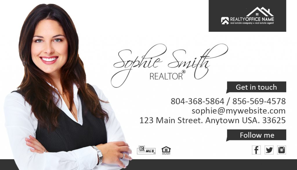 Real Estate Business Card Sticker Samples | Sticker Samples
