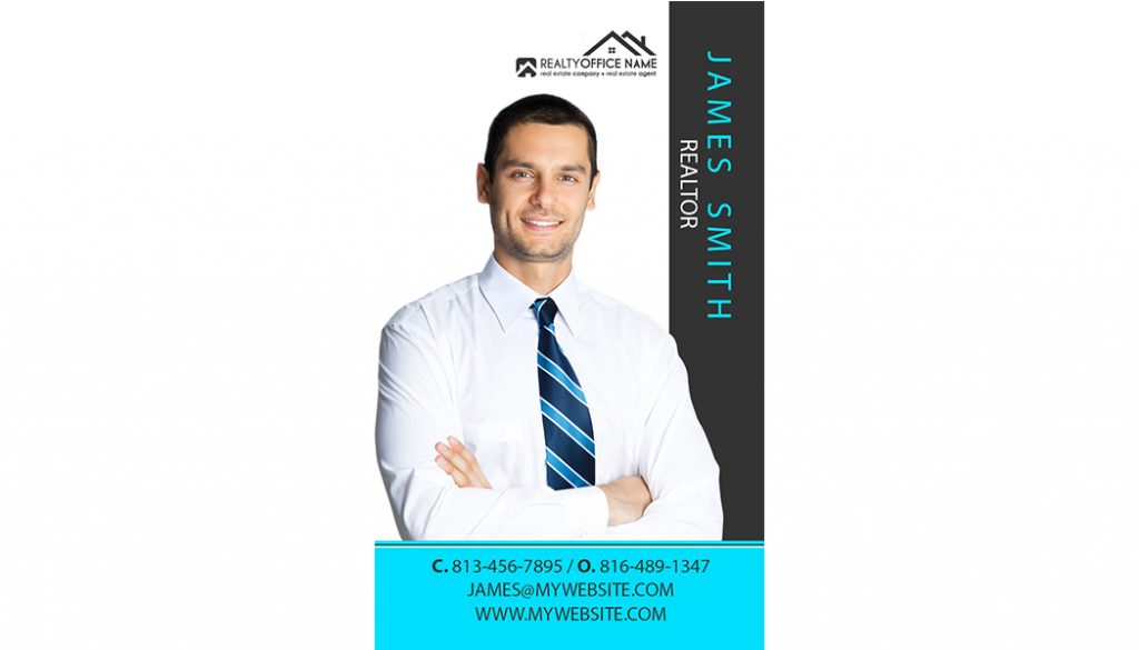 Real Estate modern Business Card Stickers