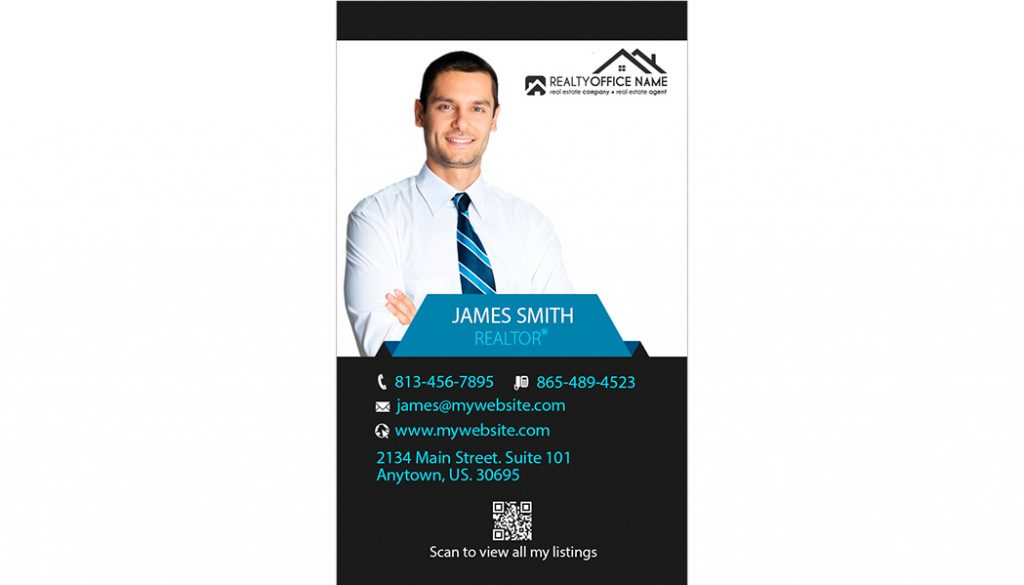 Real Estate Business Card Stickers Template 15 | Business Card Stickers