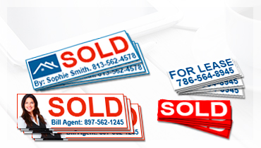 Custom Real estate Stickers | Realtor Stickers, Real Estate Decals, Real Estate Stickers for Real Estate Signs, Sold Stickers, Real Estate Referral Sticker