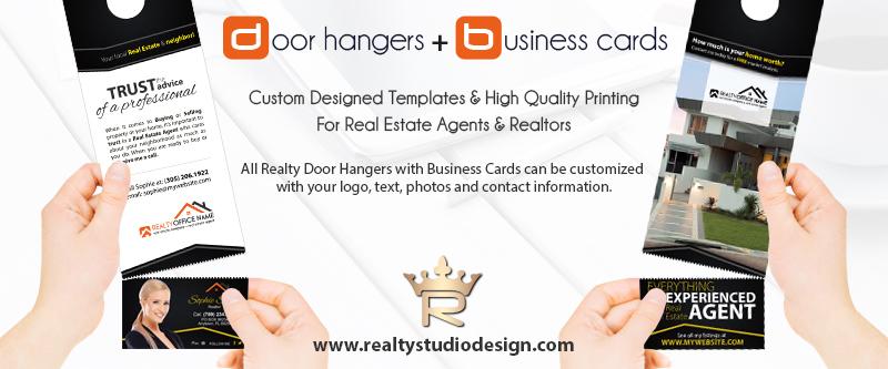 Real Estate Door Hangers Tear Off Business Card