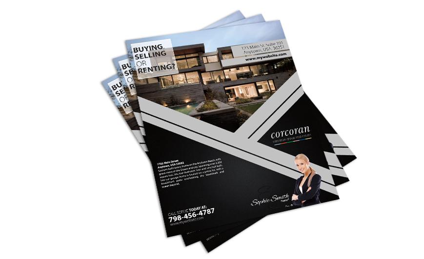 real estate flyer printing