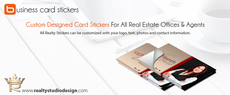 Realtor business card sticker printing realtor card sticker printing 30 reheart Images