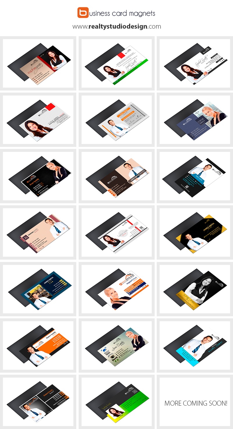 Real Estate Business Card Magnet Templates | Real Estate Agent Card Magnet Templates, Real Estate Office Card Magnet Templates, Realtor Card Magnet Templates, Broker Business Card Magnet Templates