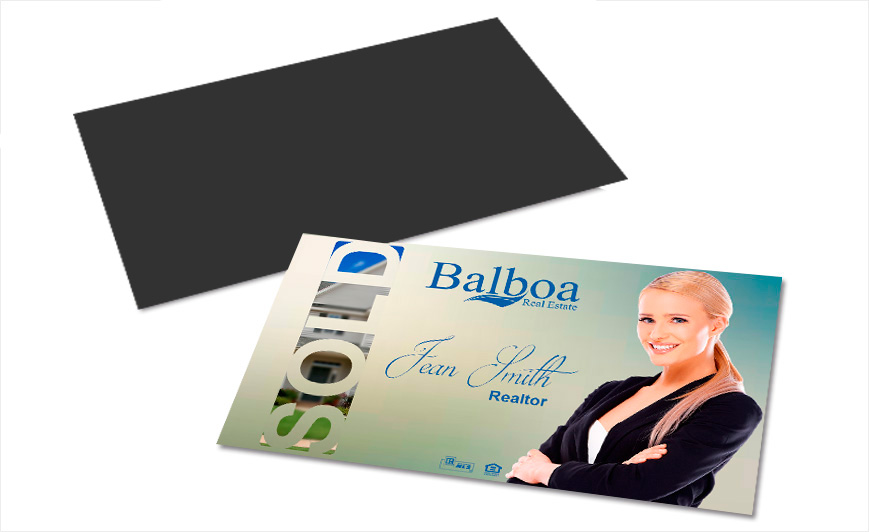 Balboa real estate business card magnets balboa magnetic cards custom balboa real estate business card magnets balboa real estate magnetic business cards balboa real estate business card magnet designs reheart Image collections