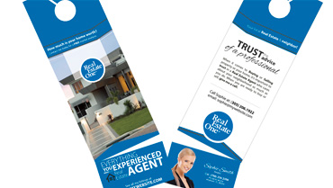 Real Estate Door Hanger Template real estate one products | real estate one printing services