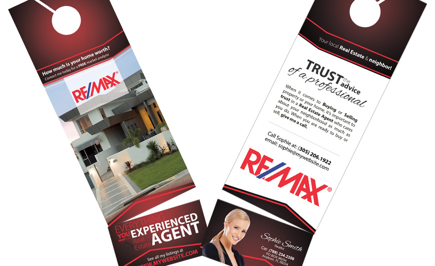 Remax Door Hangers  Remax Door Hanger Templates