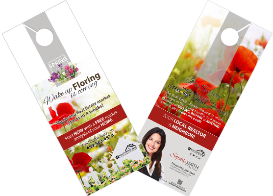 Real Estate Seasonal Door Hangers | Spring Season Door Hangers, Summer Season Door Hangers, Fall Season Door Hangers, Winter Season Door Hangers