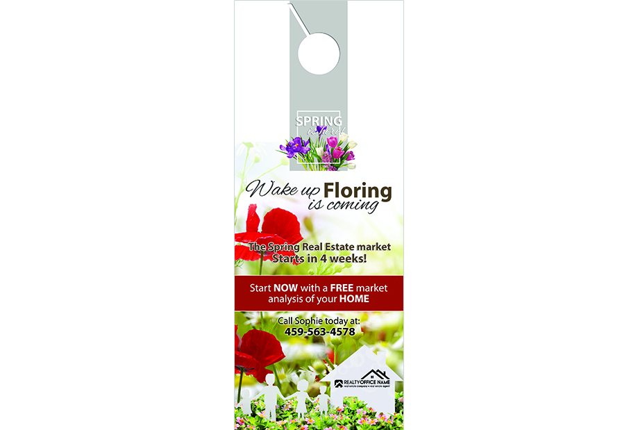 Real Estate Door Hangers, Real Estate Seasonal Door Hangers, Spring Season Door Hangers, Summer Season Door Hangers, Fall Season Door Hangers, Winter Season Door Hangers, Realtor Seasonal Door Hangers