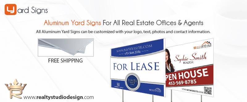 Real Estate Aluminum Yard Signs | Real Estate Aluminum Signs