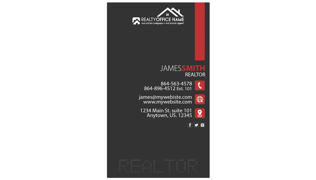 Real Estate Business Cards Template | Realtor Business Cards Template