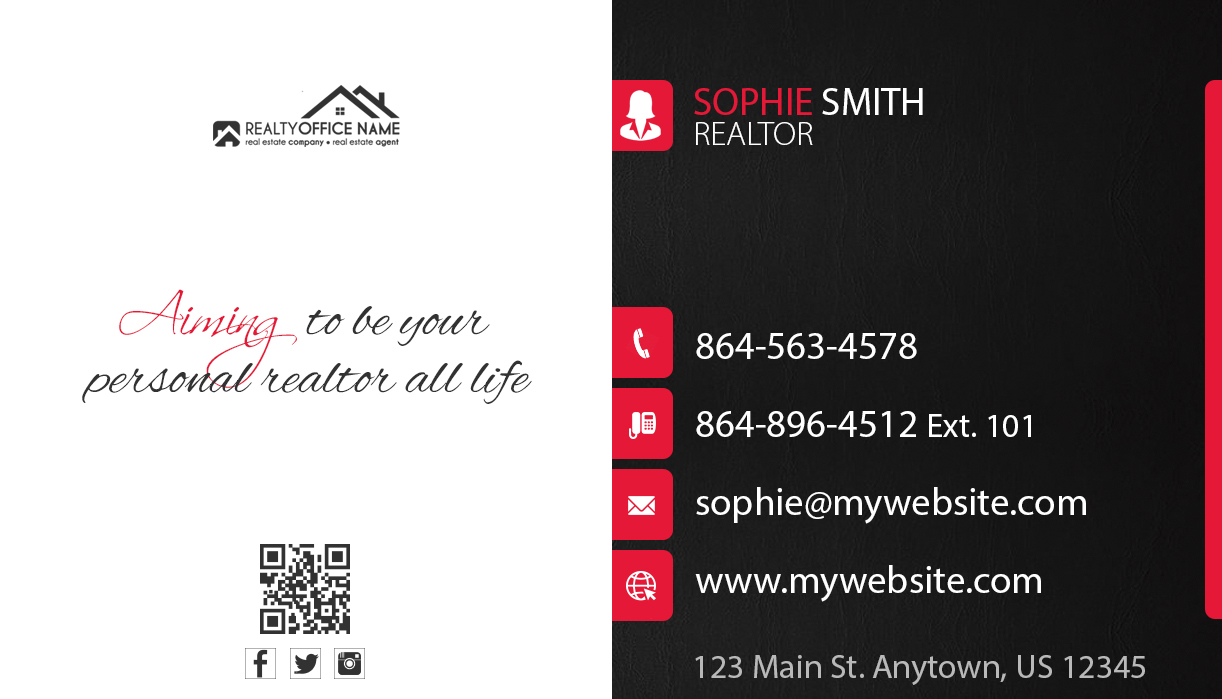 Real Estate Business Cards Template Realtor Business Cards Template - Real estate business card template