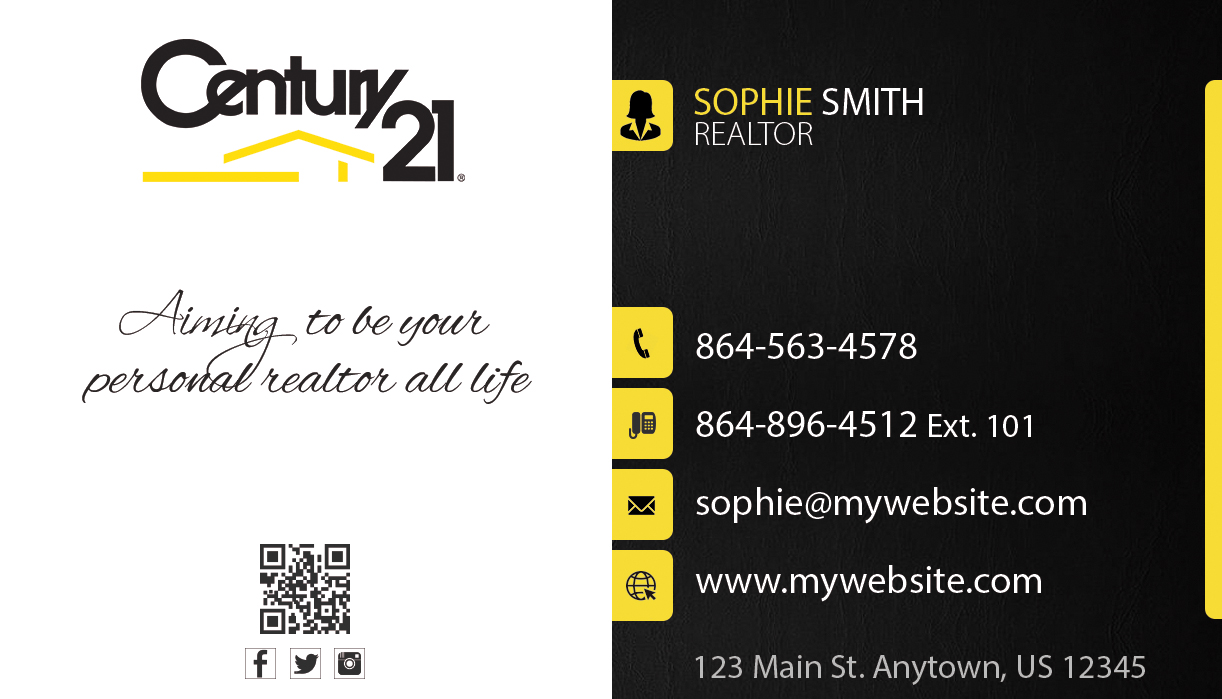century 21 business cards century 21 business card template