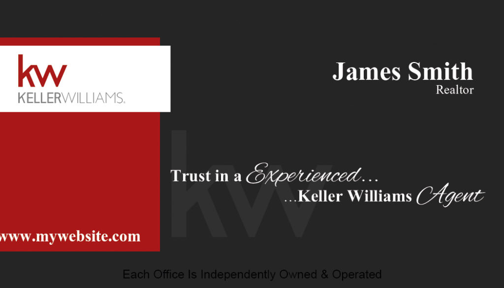 Keller williams business cards keller williams business for Keller williams business card templates