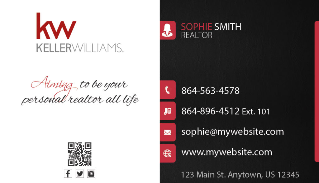 Keller Williams Business Cards | Keller Williams Business Card ...