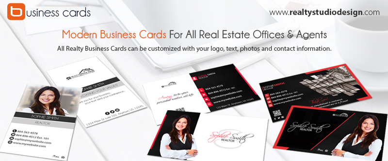 Modern Real Estate Business Cards Elegant Real Estate Business Card