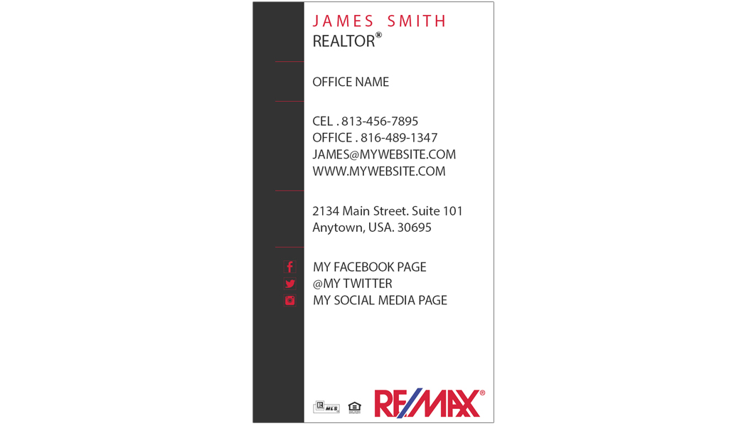 Remax business cards 10 remax business cards template 10 for Remax business cards templates