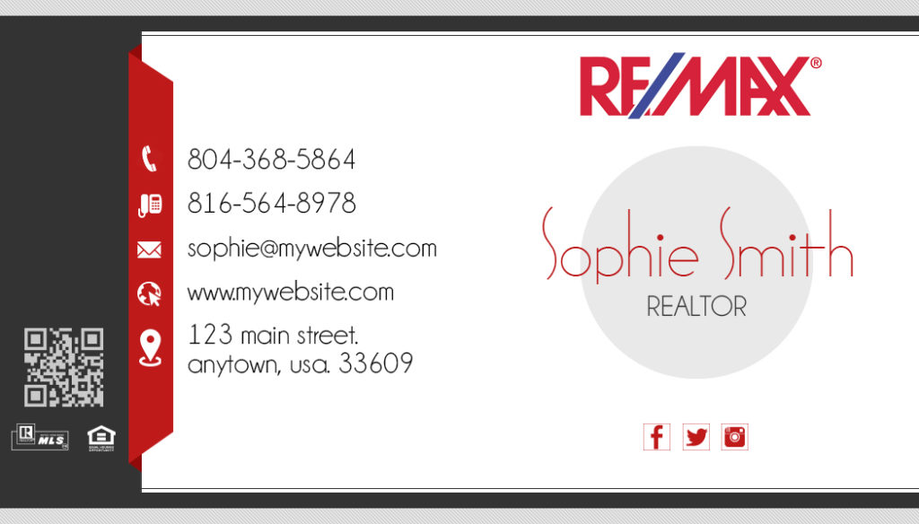 remax business cards templatesremax realtor business
