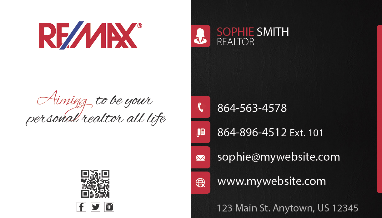 Remax business cards 23 remax business cards template 23 for Remax business cards templates
