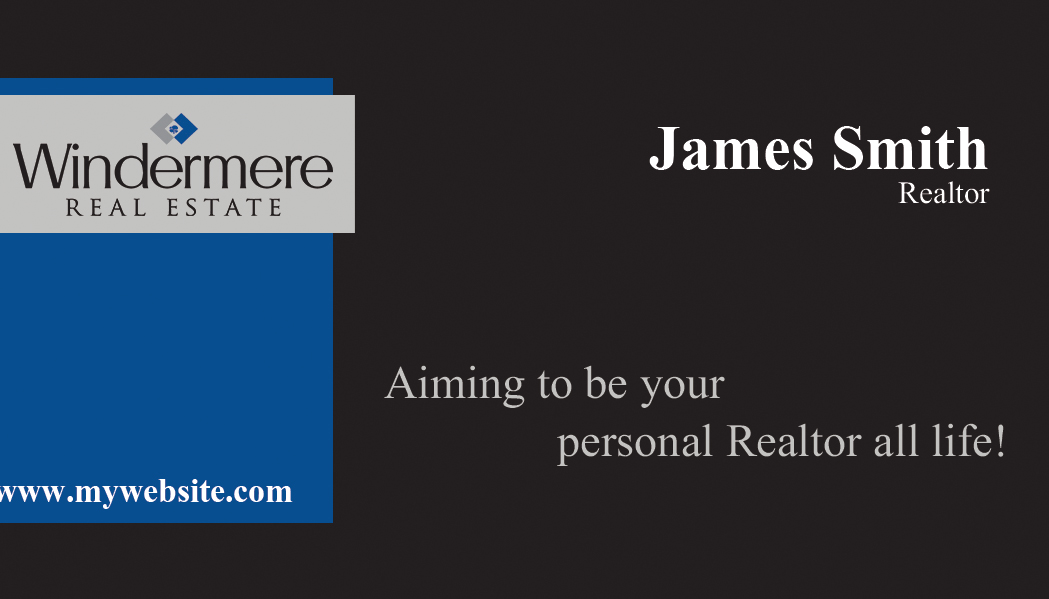 Windermere real estate business cards unique windermere for Unique real estate business cards