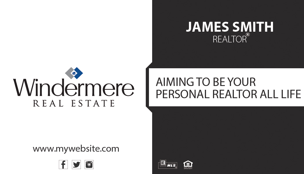 Windermere Real Estate Business Cards 17 | Windermere Business Card