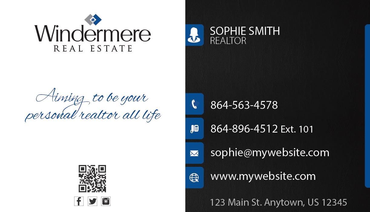 Windermere Real Estate Business Cards 23 | Windermere Business Card