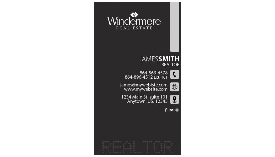 Windermere Real Estate Business Cards, Unique Windermere Real Estate ...