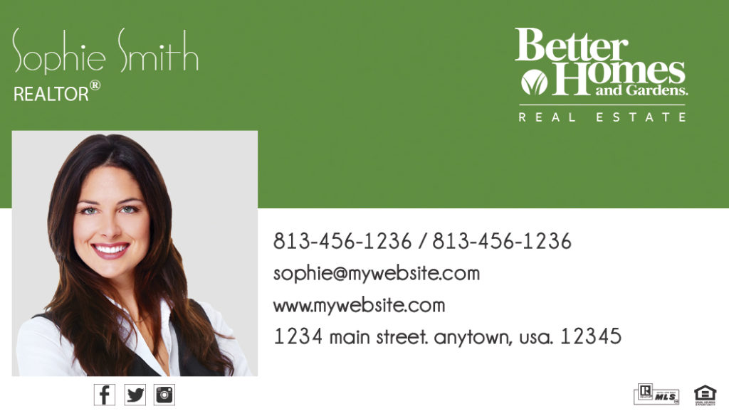 Better Homes And Gardens Business Cards 08 Templates