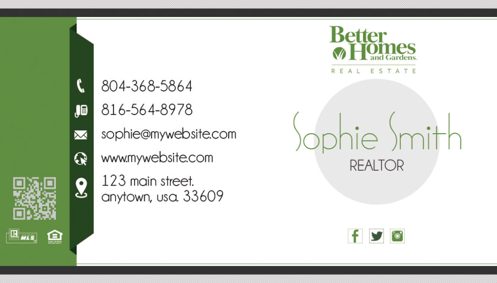 Better homes and gardens business cards 12 templates for Better homes and gardens customer service telephone number