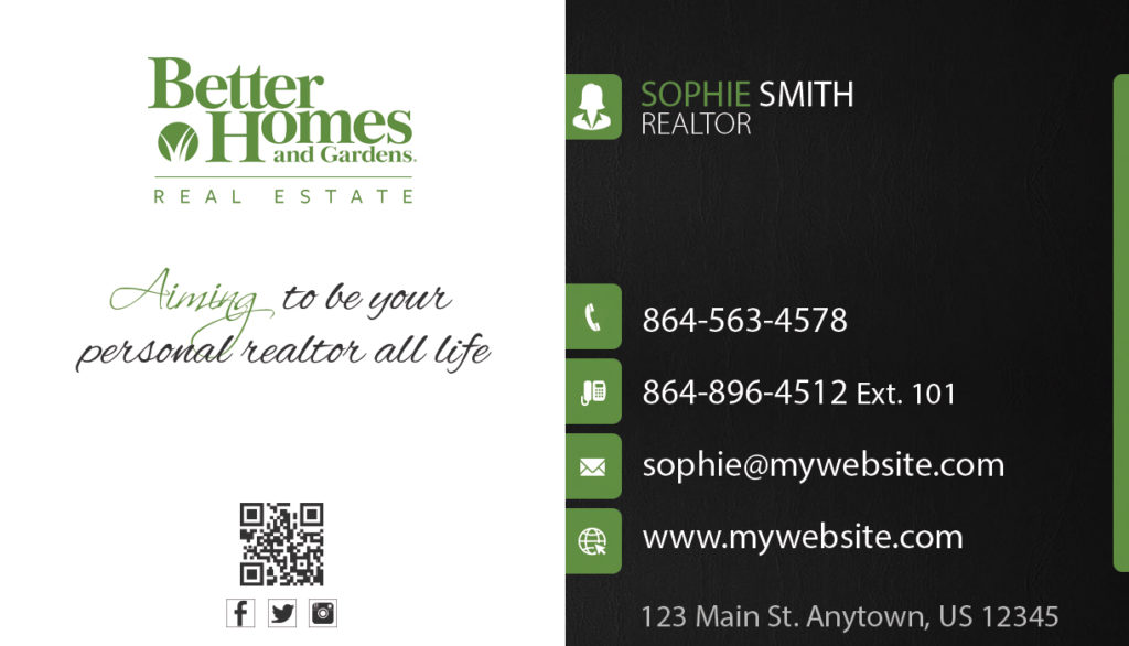 Better homes and gardens business cards 17 templates for Better homes and gardens customer service telephone number