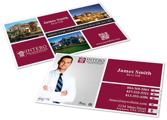 Intero Real Estate Business Cards, Intero Real Estate Business ...