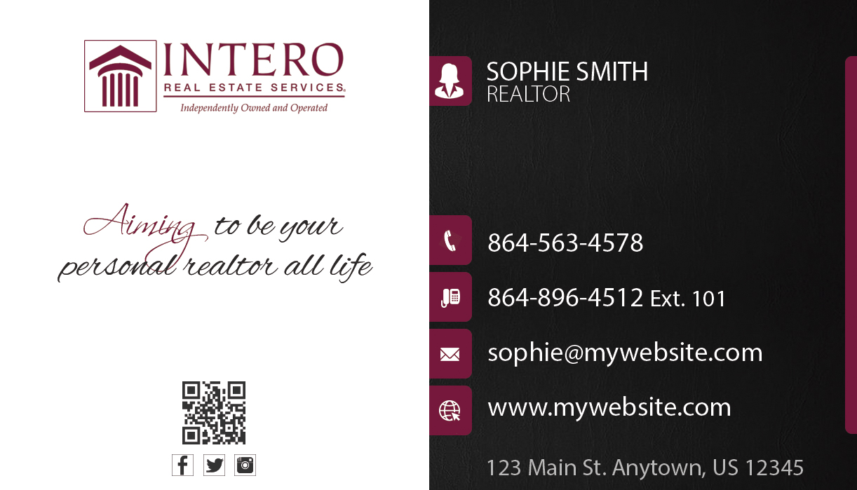 Intero real estate business cards 23 intero real estate business intero real estate business cards unique intero real estate business cards best intero real magicingreecefo Images