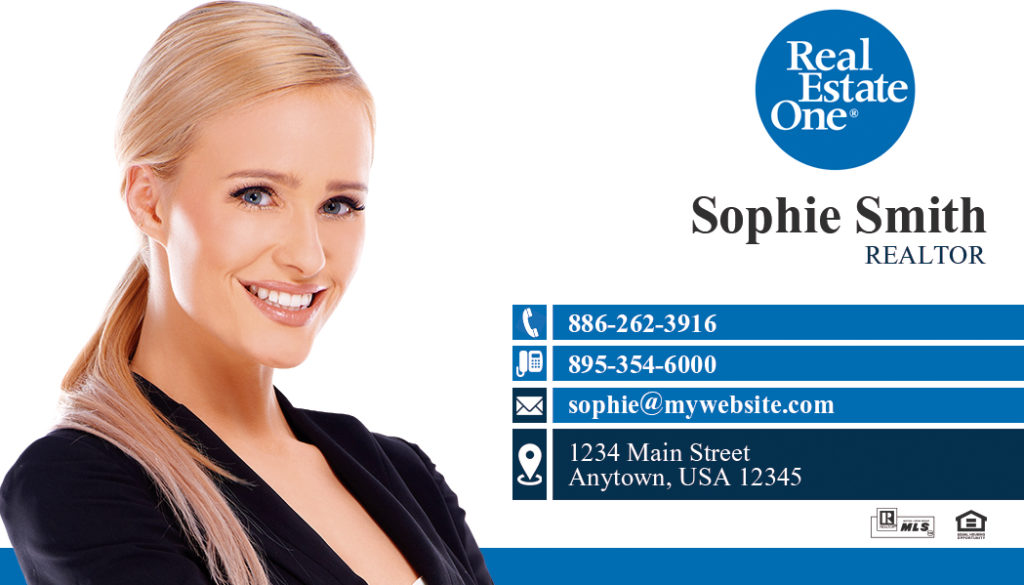 Real Estate One Business Card | Real Estate One Business Card Ideas