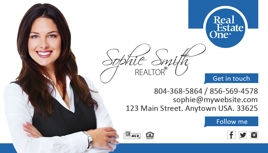 Real estate one business cards 09 real estate one for Best realtor business cards
