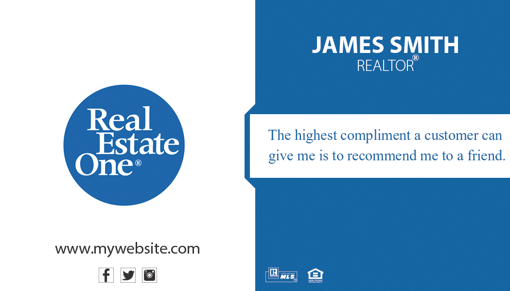 Real estate one business cards gallery card design and for Southworth business card template
