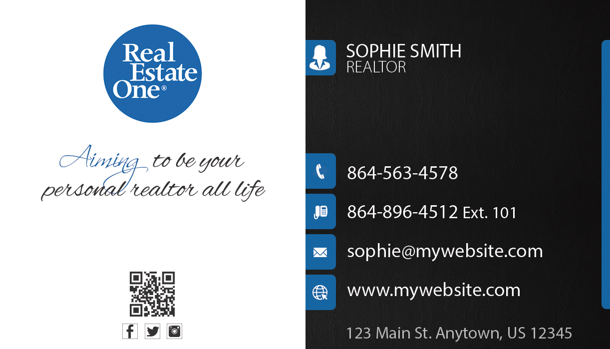 real estate one business cards 23  real estate one business cards