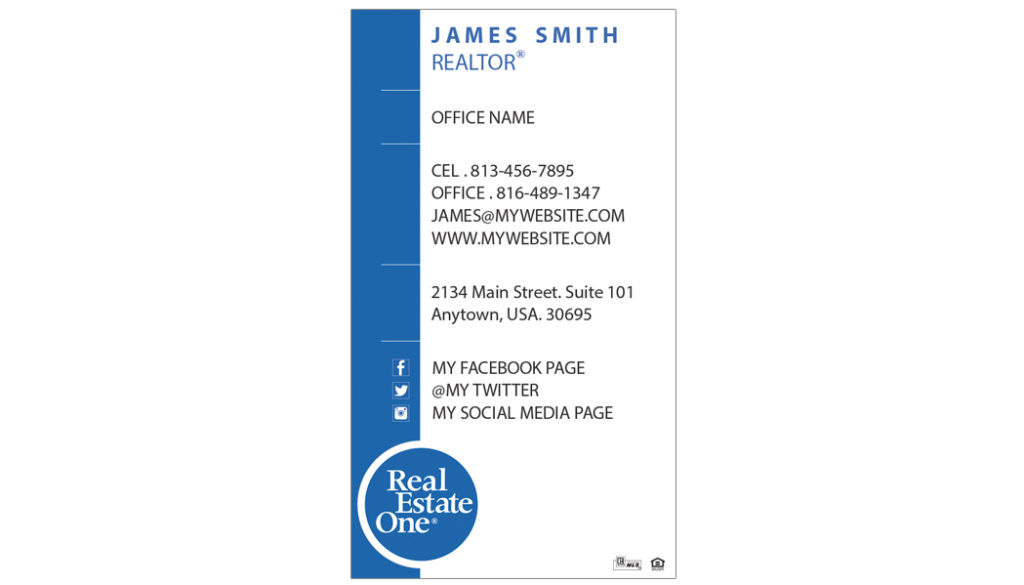 Real estate one business card real estate one business card ideas real estate one business cards rsd reo 110 reheart Gallery