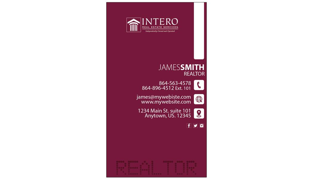 Intero Real Estate Business Cards 25 | Intero Real Estate Business ...