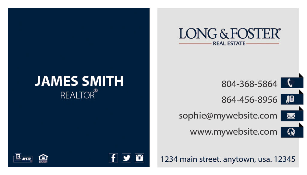 Long Foster Business Cards 20 | Long Foster Business Cards 20