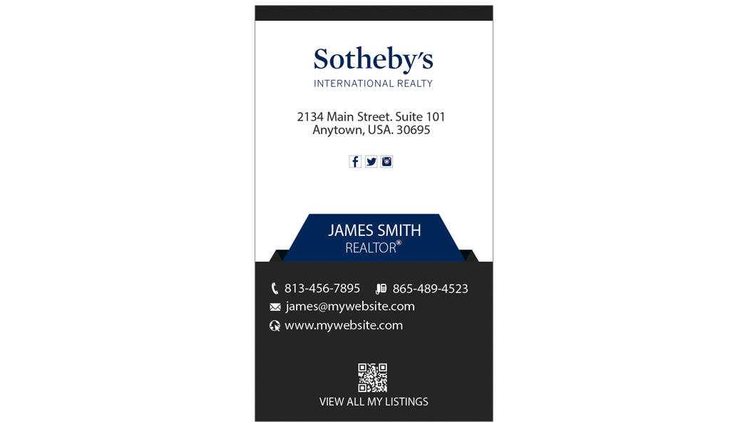 Sothebys Realty Business Cards 15 | Sothebys Realty Card Template