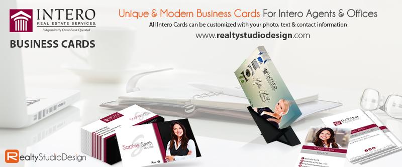 Intero Real Estate Business Card | Unique Intero Real Estate Business Card, Business Cards For Intero Real Estate Agents, Intero Business Card Templates