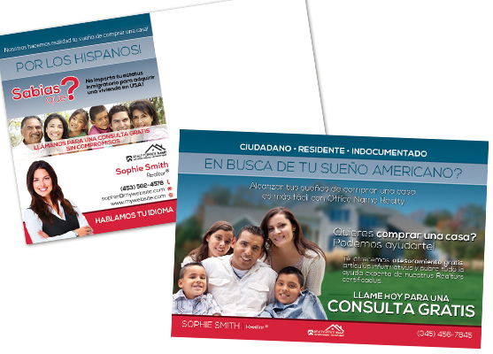 Real Estate Spanish Postcards, Real Estate Postcards   In Spanish, Real Estate Postcards Spanish, Postcards   Spanish, Realtor Spanish Postcard