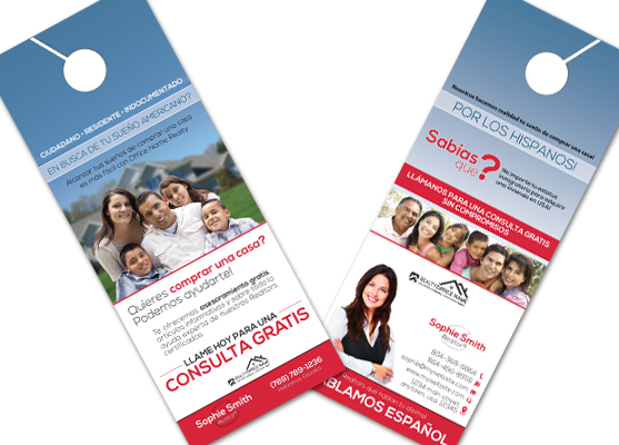 Real Estate Spanish Door Hangers, Real Estate Door Hangers In Spanish, Real Estate Door Hangers Spanish, Door Hangers Spanish, Realtor Spanish Door Hangers