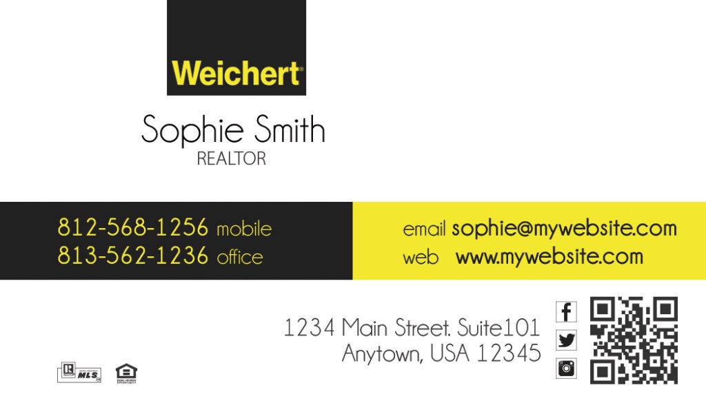 Weichert Realtors Business Cards 24   Weichert Business Card Template