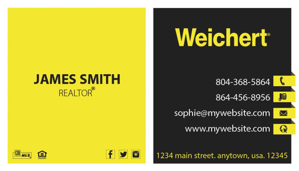 Weichert Realtors Business Cards 05   Weichert Business Card Template