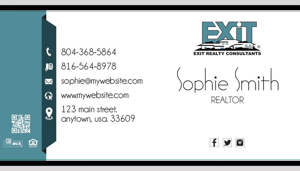 Exit Realty Business Cards, Unique Exit Realty Business Cards, Best Exit Realty Business Cards, Exit Realty Business Card Ideas