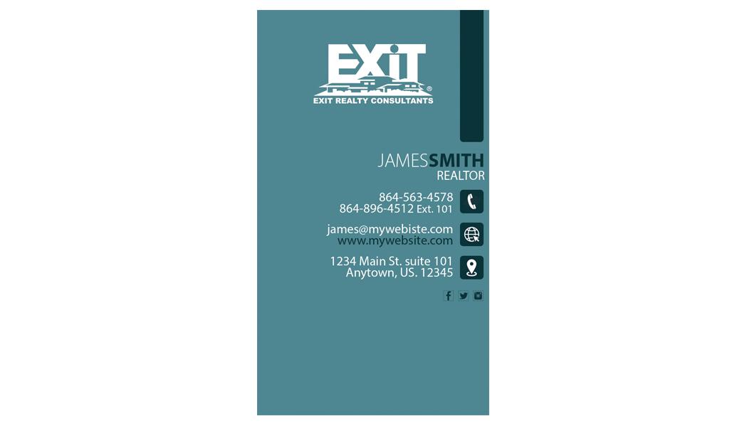 Exit realty business card 25 exit realty business card for Realty business cards