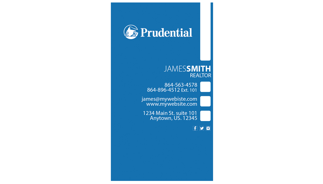 Prudential Business Cards 25 | Prudential Business Card Template 25