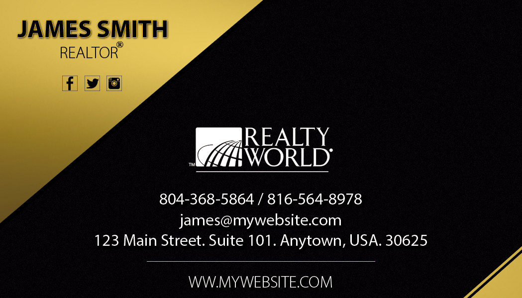 Realty World Business Card 19 | Realty World Business Card Template 19