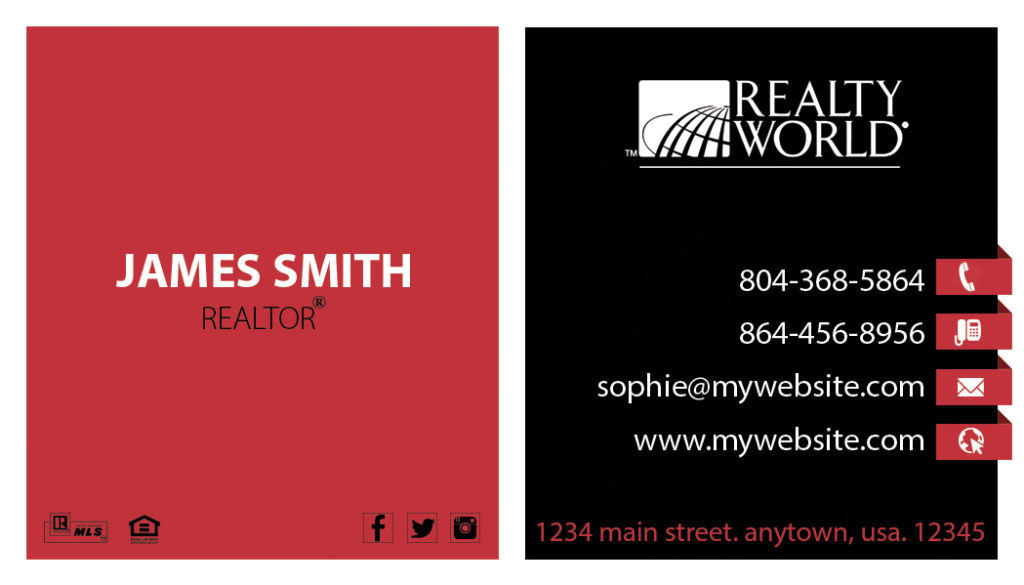 Realty World Business Card 20 | Realty World Business Card Template 20